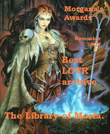 Morgana's Award - November 2002